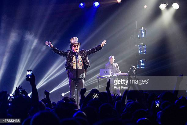 Singersongwriter Andy Bell and musician/vocalist Vince Clarke of Erasure perform in concert at ACL Live on October 19 2014 in Austin Texas