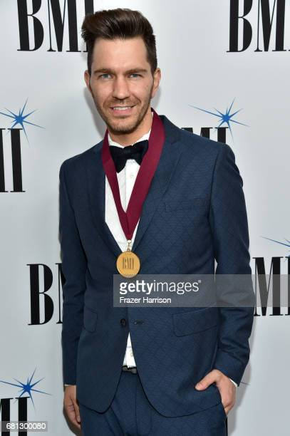 Singersongwriter Andy Grammer at the Broadcast Music Inc honors Barry Manilow at the 65th Annual BMI Pop Awards on May 9 2017 in Los Angeles...