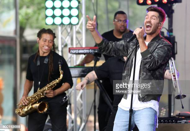 Singersongwriter Andy Grammer performs on NBC's 'Today' at Rockefeller Plaza on June 23 2017 in New York City