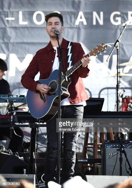 Singer/songwriter Andy Grammer performs onstage at 2018 Women's March Los Angeles at Pershing Square on January 20 2018 in Los Angeles California