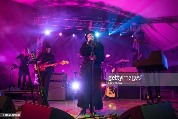 Singer-songwriter Angel Olsen performs onstage during Levitation at Stubb's Bar-B-Q on November 07, 2019 in Austin, Texas.