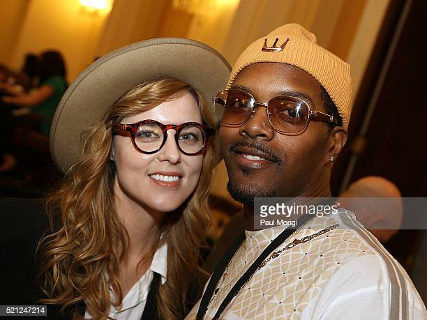 Singersongwriter Anna Nalick and Sean Matthews pose for a photo during GRAMMYs on The Hill Advocacy Day on Capitol Hill on April 14 2016 in...