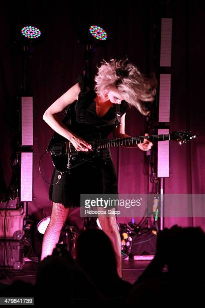 Singer/songwriter Annie Clark aka St Vincent performs at The Drop St Vincent at The GRAMMY Museum on March 20 2014 in Los Angeles California