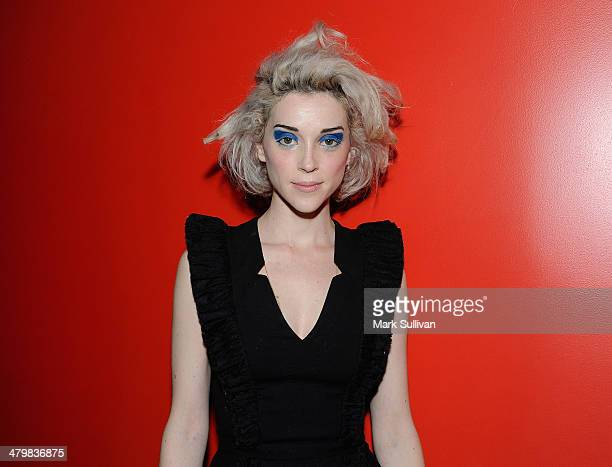 Singer/songwriter Annie Clark aka St. Vincent poses before The Drop: St. Vincent at The GRAMMY Museum on March 20, 2014 in Los Angeles, California.
