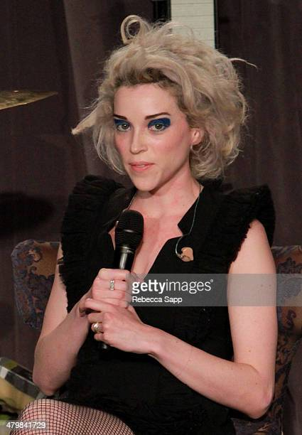 Singer/songwriter Annie Clark aka St Vincent speaks onstage at The Drop St Vincent at The GRAMMY Museum on March 20 2014 in Los Angeles California