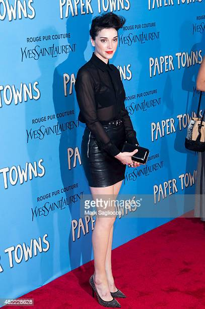 Singer/Songwriter Annie 'St Vincent' Clark attends the Paper Towns New York premiere at AMC Loews Lincoln Square on July 21 2015 in New York City