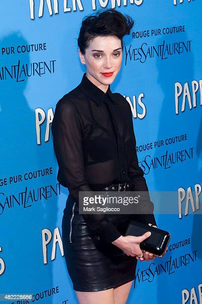 Singer/Songwriter Annie 'St Vincent' Clark attends the 'Paper Towns' New York premiere at AMC Loews Lincoln Square on July 21 2015 in New York City