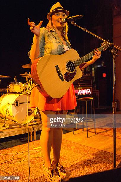 Singer/songwriter Anuhea Jenkins of Anuhea performs at The Vogue on November 10 2012 in Indianapolis Indiana