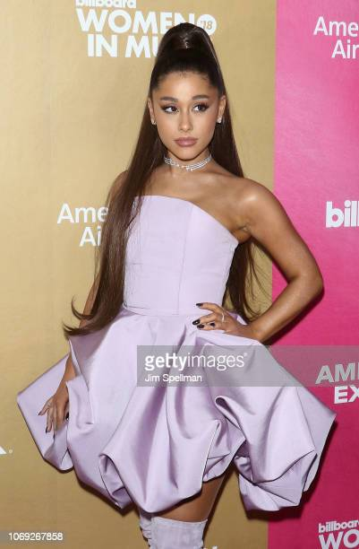 Singer/songwriter Ariana Grande attends the Billboard's 13th Annual Women in Music event at Pier 36 on December 6 2018 in New York City