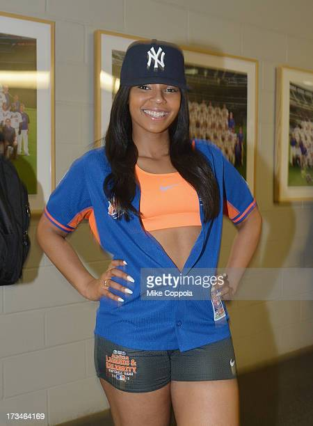 Singer/songwriter Ashanti attends the Taco Bell AllStar Legends Celebrity Softball Game at Citi Field on July 14 2013 in New York City