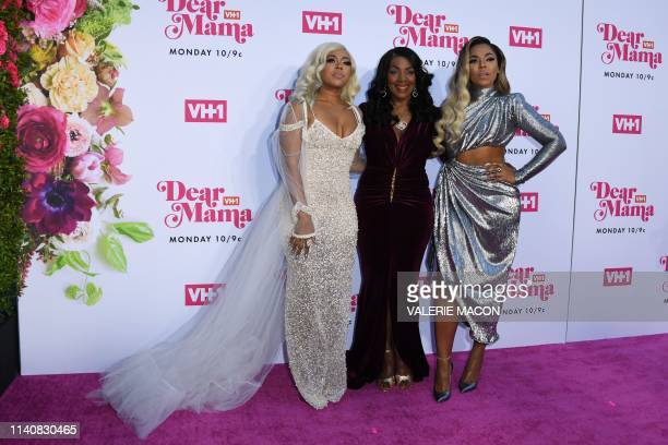 US singersongwriter Ashanti her mother Tina Douglas and sister Shia Douglas arrive for VH1's Annual Mother's Day Celebration Dear Mama A Love Letter...