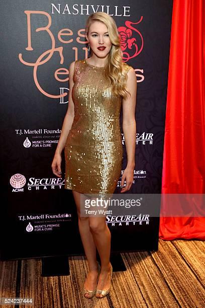 Singersongwriter Ashley Campbell attends the Nashville Best Cellars Dinner at the Loews Vanderbilt Hotel on April 25 2016 in Nashville Tennessee