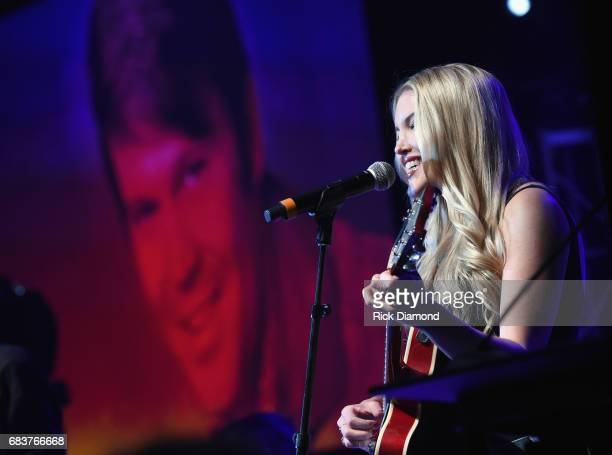 Singer/Songwriter Ashley Campbell performs during Music Biz 2017 Industry Jam 2 at the Renaissance Hotel on May 15 2017 in Nashville Tennessee
