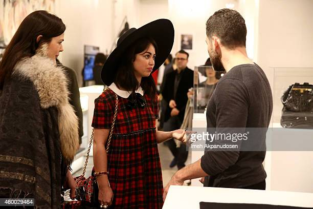 Singer/songwriter Aura Dione attends the launch of Just One Eye's Ulysses Tier 1 The Ultimate Disaster Relief Kit on December 5 2014 in Los Angeles...