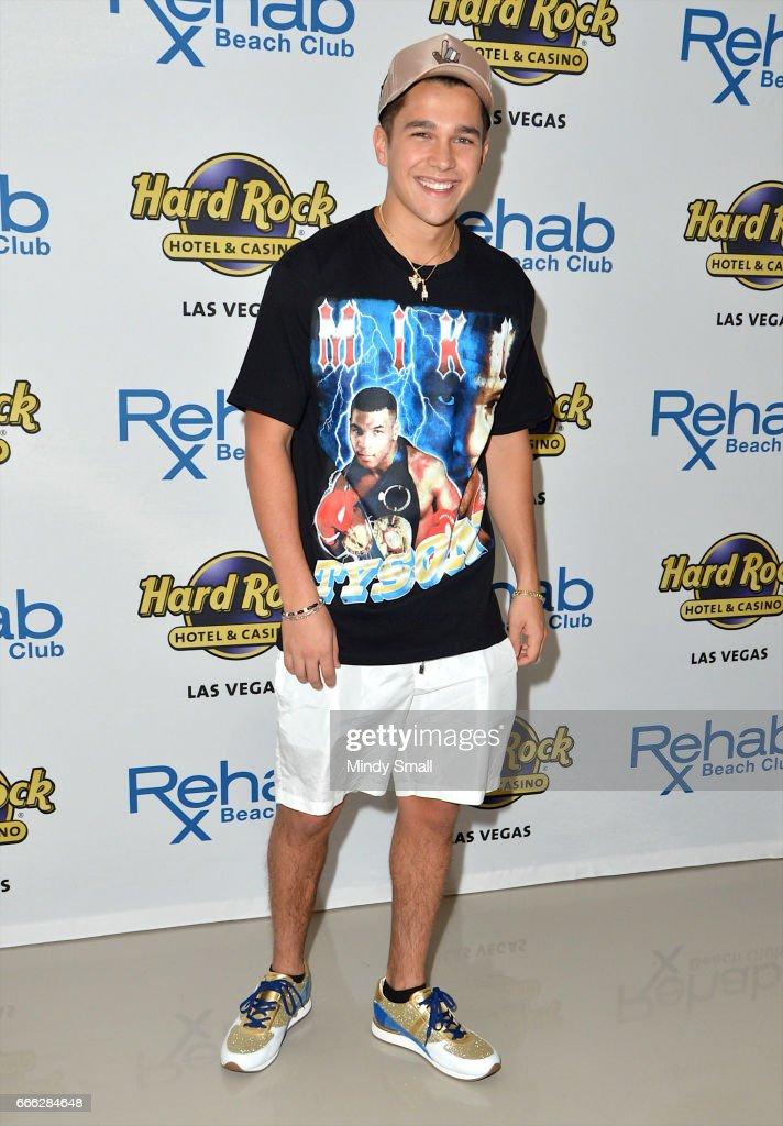 Austin Mahone Celebrates 21st Birthday At Hard Rock's Rehab Beach Club