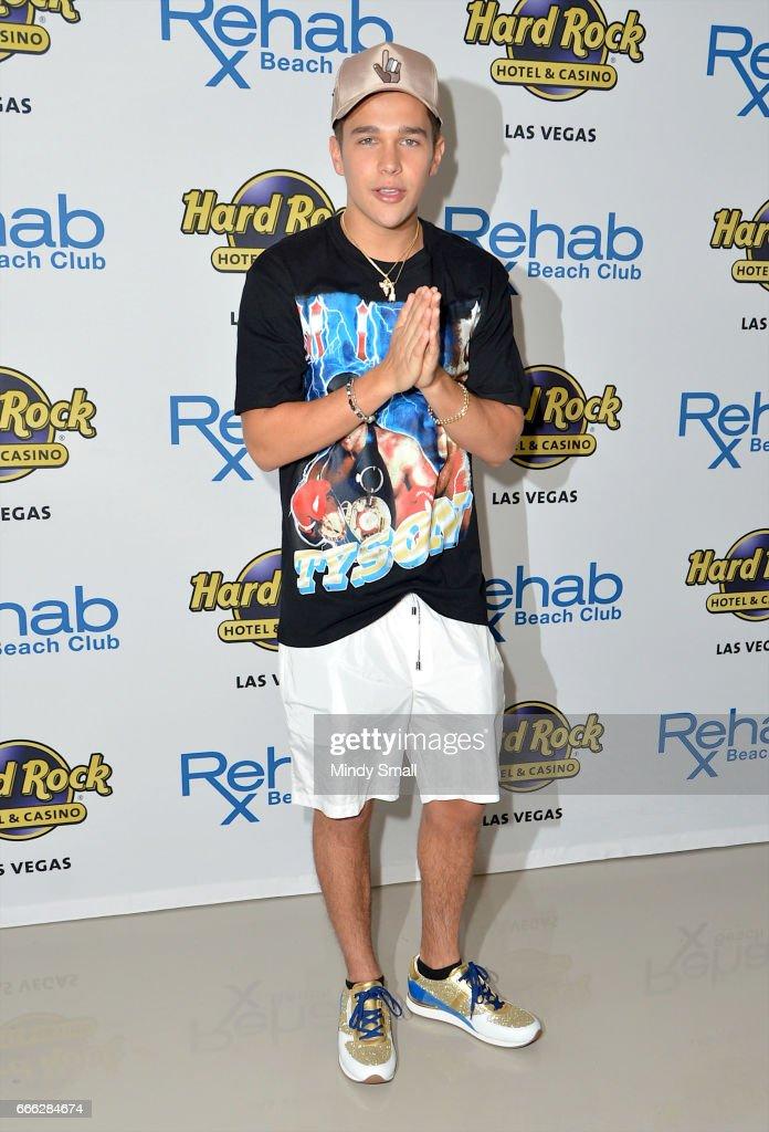 Austin Mahone Celebrates 21st Birthday At Hard Rocks Rehab Beach