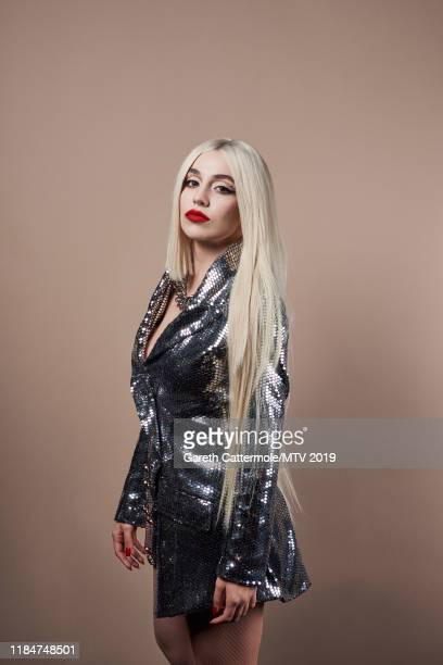 Singersongwriter Ava Max poses for a portrait at the MTV EMAs 2019 studio at FIBES Conference and Exhibition Centre on November 3 2019 in Seville...