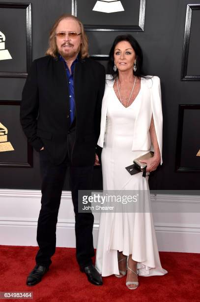 Singer-songwriter Barry Gibb and Linda Gibb attend The 59th GRAMMY Awards at STAPLES Center on February 12, 2017 in Los Angeles, California.