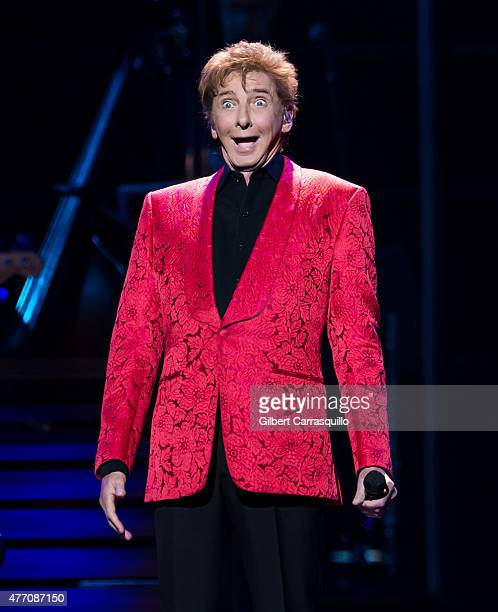 Singersongwriter Barry Manilow performs during the One Last Time Tour at Wells Fargo Center on June 13 2015 in Philadelphia Pennsylvania