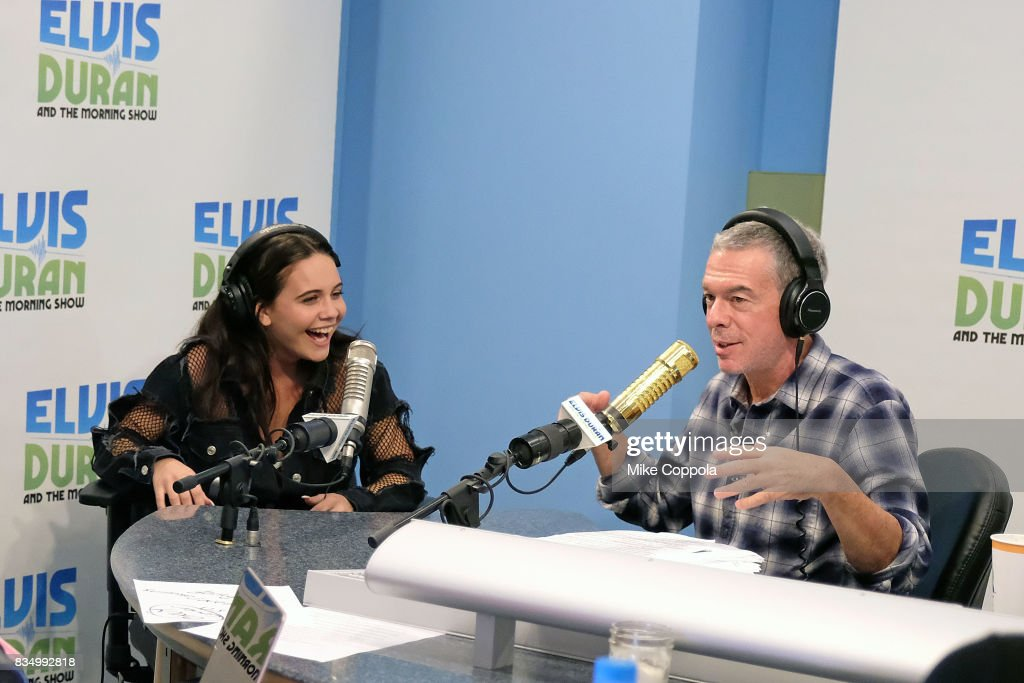 Singer/songwriter Bea Miller is interviewed by Radio personality Elvis Duran during her visit to the 'The Elvis Duran Z100 Morning Show' at Z100 Studio on August 18, 2017 in New York City.