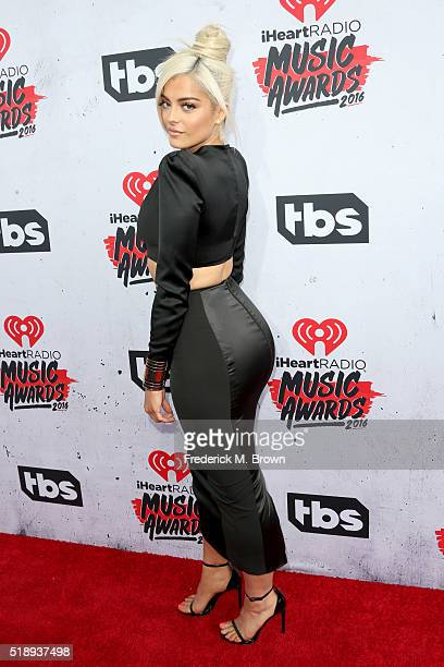 Singer/songwriter Bebe Rexha attends the iHeartRadio Music Awards at The Forum on April 3 2016 in Inglewood California