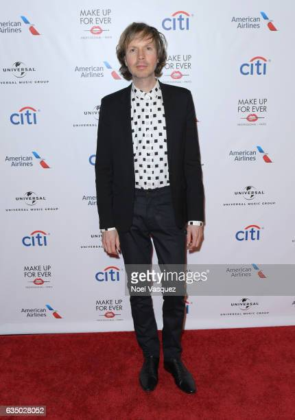 Singer-songwriter Beck arrives at Universal Music Group 2017 Grammy after party presented by American Airlines and Citi at the Ace Hotel on February...