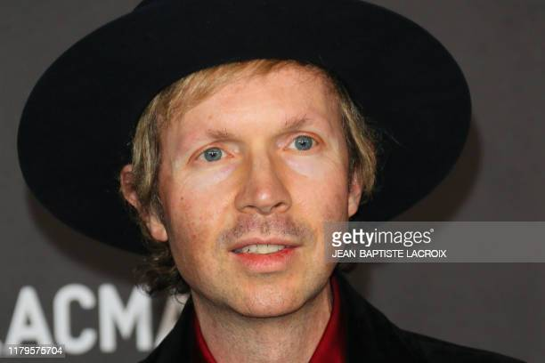 Singer-songwriter Beck arrives for the 2019 LACMA Art+Film Gala at the Los Angeles County Museum of Art in Los Angeles on November 2, 2019.