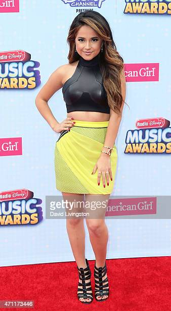 Singer/songwriter Becky G attends the 2015 Radio Disney Music Awards at Nokia Theatre LA Live on April 25 2015 in Los Angeles California