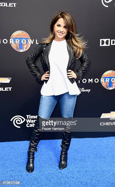 Singer/songwriter Becky G attends the Premiere Of Disney's 'Tomorrowland' at AMC Downtown Disney 12 Theater on May 9 2015 in Anaheim California