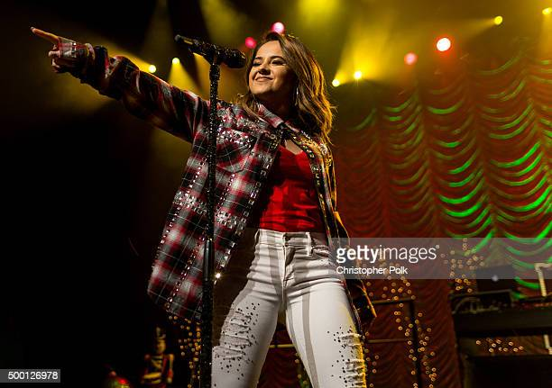 Singersongwriter Becky G performs onstage during The Salvation Army 'Rock The Red Kettle' Concert presented by Mammoth Mountain at Microsoft Theater...
