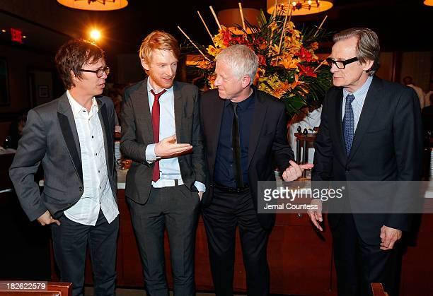 Singersongwriter Ben Folds actor Domhnall Gleeson filmmaker Richard Curtis and actor Bill Nighy attend the after party for the 'About Time' 'Jimmy P...