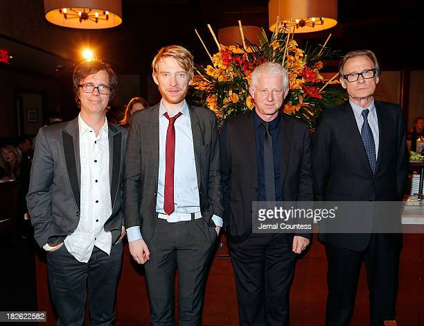 Singersongwriter Ben Folds actor Domhnall Gleeson filmmaker Richard Curtis and actor Bill Nighy attend the after party for the About Time Jimmy P...