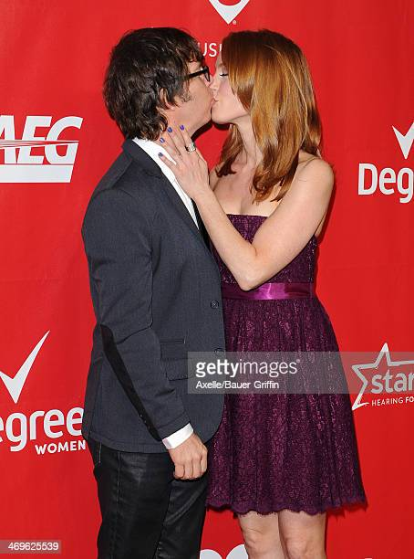 Singersongwriter Ben Folds and actress Alicia Witt attend the 2014 MusiCares Person Of The Year honoring Carole King at Los Angeles Convention Center...
