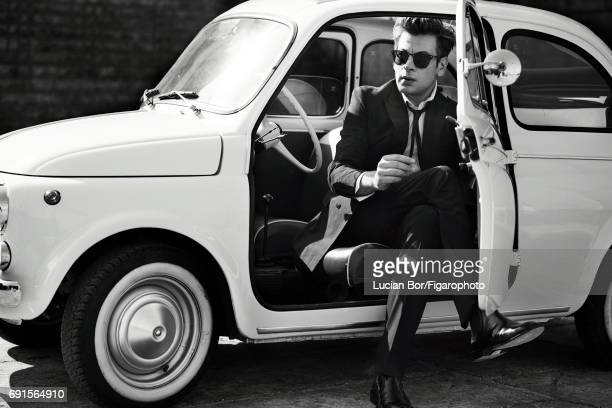 Singer/songwriter Benjamin Biolay is photographed for Madame Figaro on April 5, 2017 in Rome, Italy. Suit and shirt , sunglasses , L.U.C XPS watch ....