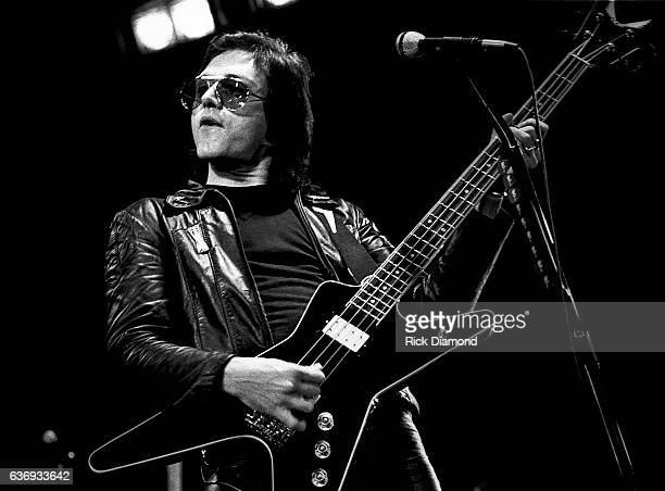Singer/Songwriter Benjamin Orr of The Cars perform at The Omni Coliseum in Atlanta Georgia October 16 1980