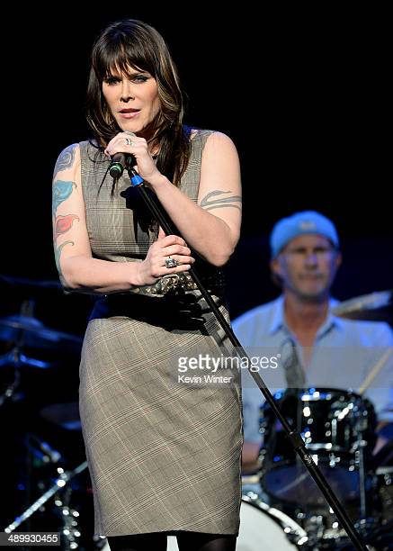 Singer/songwriter Beth Hart and drummer Chad Smith perform onstage at the 10th annual MusiCares MAP Fund Benefit Concert to raise funds for...