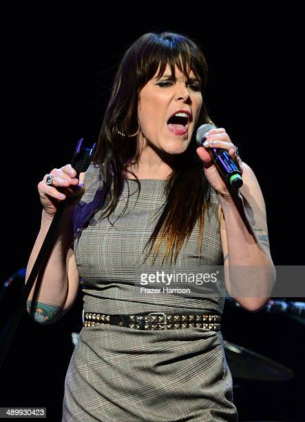 Singersongwriter Beth Hart performs onstage at the 10th annual MusiCares MAP Fund Benefit Concert at Club Nokia on May 12 2014 in Los Angeles...