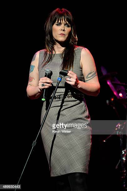 Singersongwriter Beth Hart performs onstage at the 10th annual MusiCares MAP Fund Benefit Concert to raise funds for MusiCares' addiction recovery...