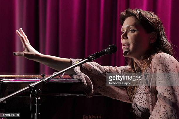 Singersongwriter Beth Hart performs onstage at The Drop Beth Hart at The GRAMMY Museum on June 3 2015 in Los Angeles California
