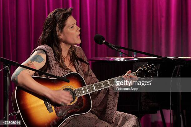 Singer-songwriter Beth Hart performs onstage at The Drop: Beth Hart at The GRAMMY Museum on June 3, 2015 in Los Angeles, California.