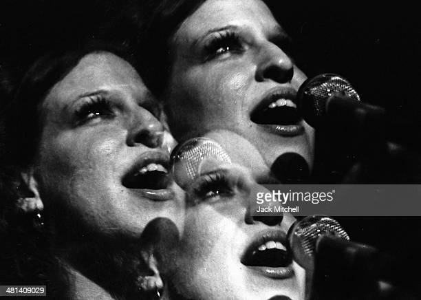 Singer/songwriter Bette Midler photographed on her Continental Baths Tour in 1972 in New York City
