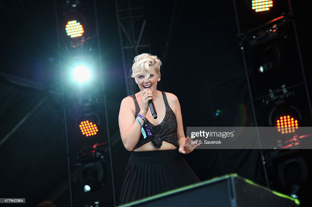 Singer/songwriter Betty Who performs on stage during day 3 of the Firefly Music Festival on June 20, 2015 in Dover, Delaware.