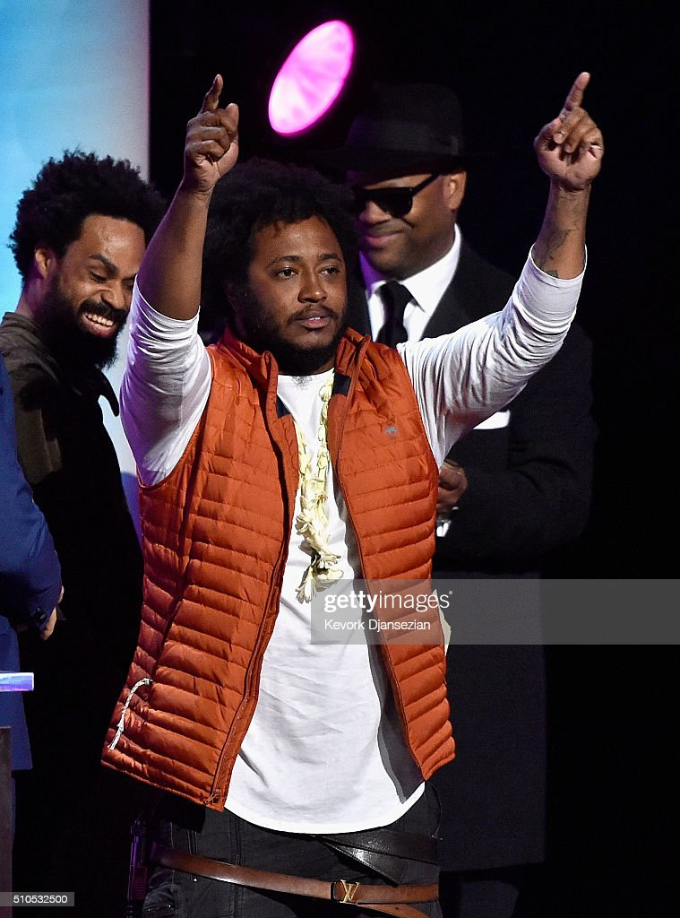 Singer-songwriter Bilal, musican Thundercat and producer Jimmy Jam onstage during the GRAMMY Pre-Telecast at The 58th GRAMMY Awards at Microsoft Theater on February 15, 2016 in Los Angeles, California.