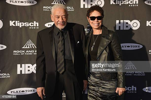 Singersongwriter Bill Withers adnMarcia Johnson attend the 30th Annual Rock And Roll Hall Of Fame Induction Ceremony at Public Hall on April 18 2015...