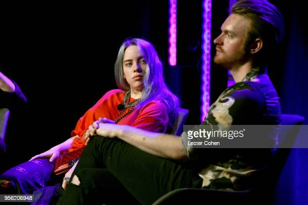 Singer/Songwriter Billie Eilish and Producer Finneas O'Connell speak onstage at the 'Billie Eilish and Finneas O'Connell in Conversation' panel at...