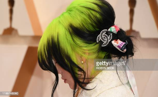 US singersongwriter Billie Eilish arrives for the 92nd Oscars at the Dolby Theatre in Hollywood California on February 9 2020