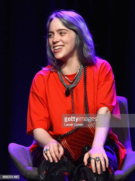 Singer/Songwriter Billie Eilish speaks onstage at the 'Billie Eilish and Finneas O'Connell in Conversation' panel at The 2018 ASCAP I Create Music...
