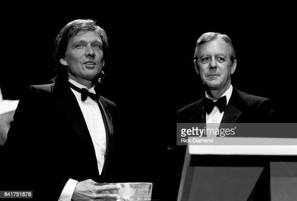 Singer/Songwriter Billy Joe Royal and Georgia Governor Joe Frank Harris attend The Georgia Music Hall of Fame at The Georgia World Congress Center in...