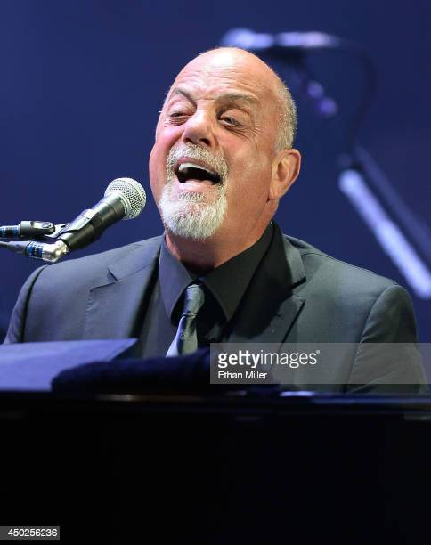 Singer/songwriter Billy Joel performs at the MGM Grand Garden Arena on June 7 2014 in Las Vegas Nevada