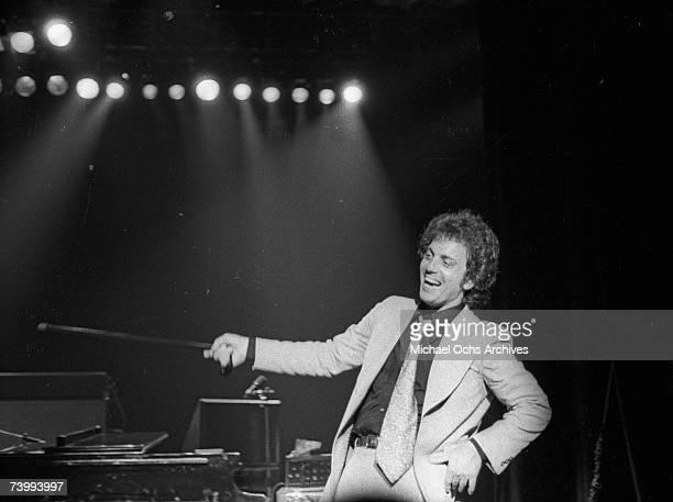 Singer/songwriter Billy Joel performs onstage in circa 1978.